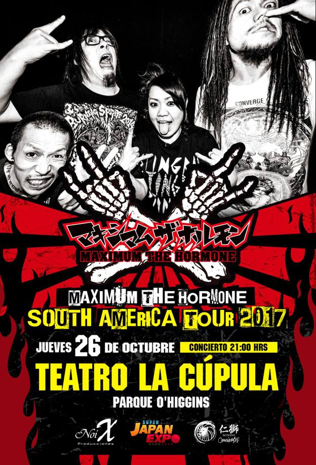 2017.10.26 Maximum The Hormone en Chile