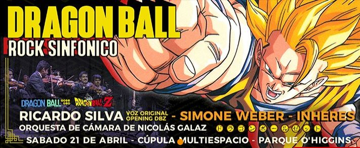 Dragon Ball Rock Sinfónico en Chile 2018.04.21
