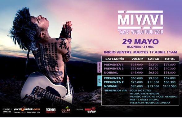 "Miyavi ""DAY 2"" World Tour South America 2018.05.29"